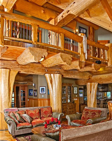 Timber King's Log Home Masterpiece - LuxuryHomes