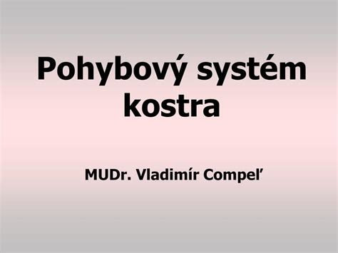 PPT - kostra PowerPoint Presentation, free download - ID