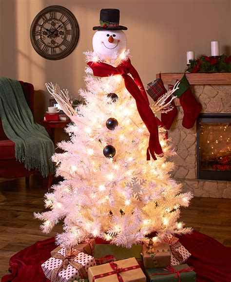 Frosty Snowman Top Hat Christmas Tree Topper Decor Holiday