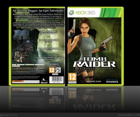 Tomb Raider: The Dagger of Xian Xbox 360 Box Art Cover by roza