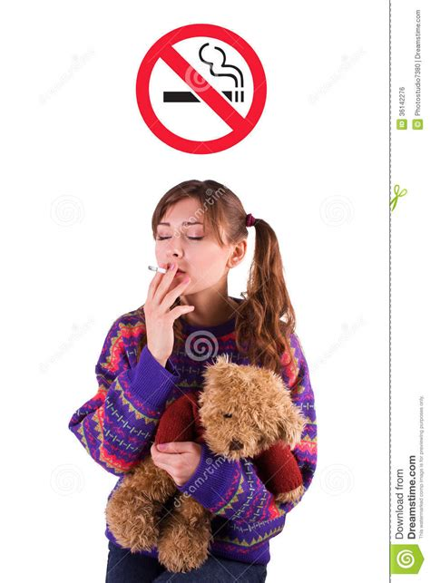Little Girl With A Cigarette Stock Photo - Image: 36142276