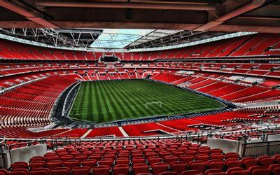 Download wallpapers Old Trafford, empty stadium, soccer